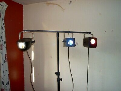 Check this out, 3 disco lights and stand, all sound to light.