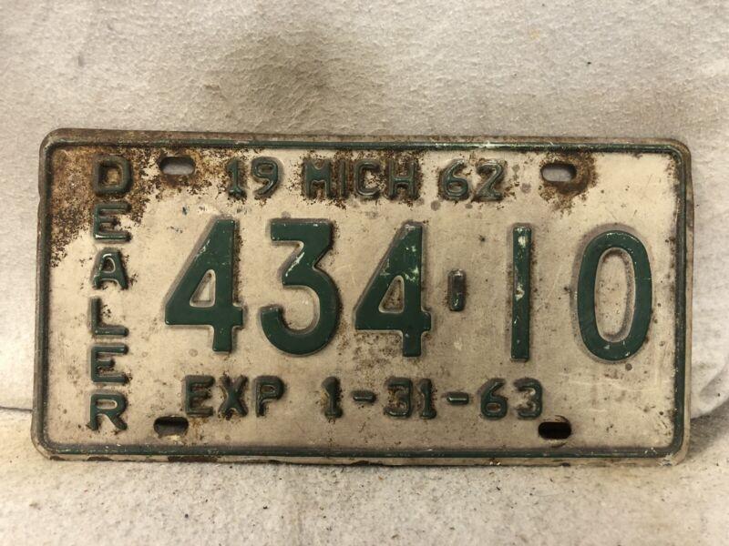 Vintage 1963 Michigan Dealer License Plate