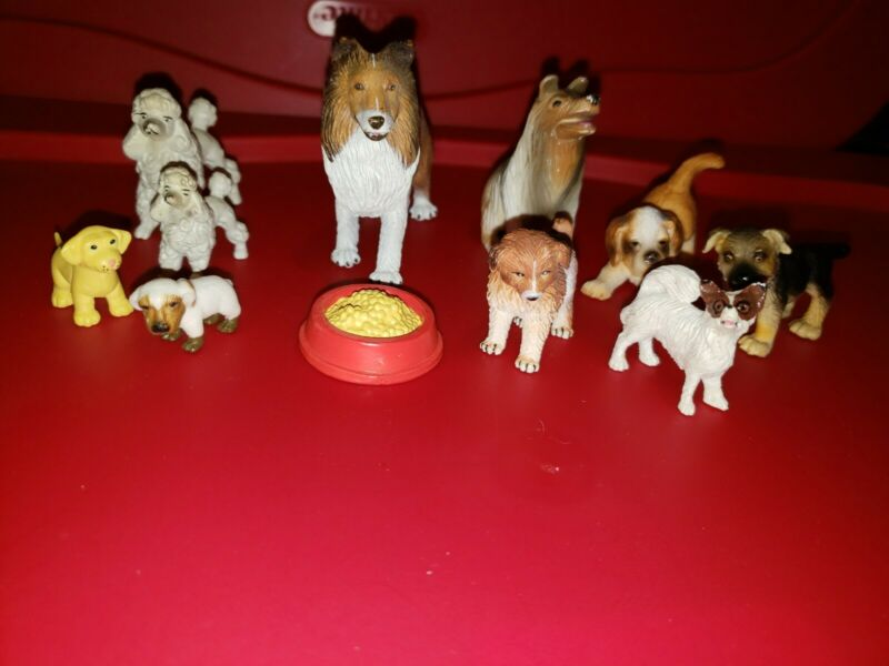 10 Dog Play Toys Animal Schleich and Safari Lot 10