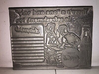 Antique Coca Cola Wood Printing Press Advertising One Only In Refreshments