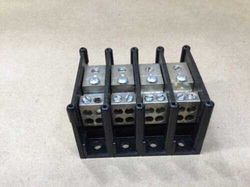 FERRAZ SHAWMUT 62161 Power Distribution 4 Pole Terminal Block #4-#14 #42B24*AD