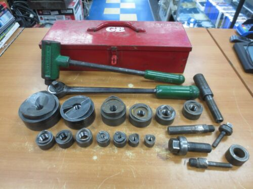 Greenlee 1806 Ratchet Punch and Knockout Set