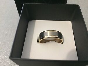 Men's 9ct gold two tones flawless cut wedding ring band Butler Wanneroo Area Preview