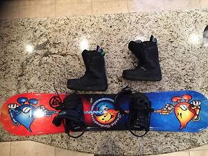 Snowboard  including bindings and Burton boots