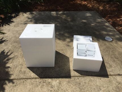 Polystyrene cooler boxes