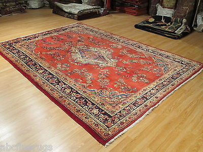 7x11 ESTATE Persian Liliyan Vegetable Dye Hand-made-knotted Wool Rug 580187