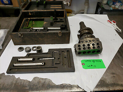 Wohlhaupter Upa5 S6 7394 Boring Head Accessories Cat 50 Shank Used Lot11