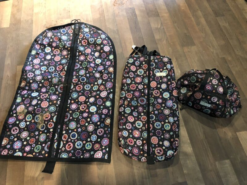Used Lettia Bag Set Peace Signs-helmet, Bridle, Garment