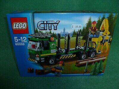 LEGO 60059 LEGO CONSTRUCTION CITY LOGGING TRUCK NUOVO NEW MISB RARE