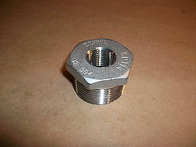Stainless Steel Reducer Fitting 1 14 X 12  Sp114 Mb-304  New