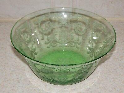 "FOSTORIA GLASS VERSAILLES GREEN FINGER BOWL 4 5/8"" EXCELLENT!"
