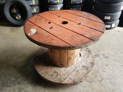 Cable Reel Coffee Table Industrial Rustic