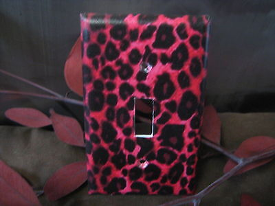 Hot Pink Cheetah Print Light Switch Wall Outlet Plate Cover #1 - Variations (Cheetah Print Light Switch Cover)
