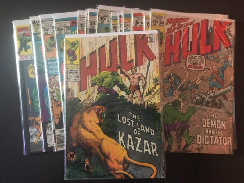 The Incredible Hulk #109 (Nov 1968, Marvel) And A lot Comic Books