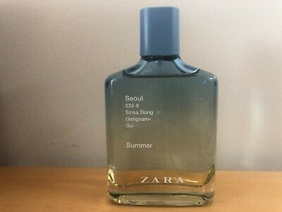 ZARA MAN SEOUL SUMMER MEN'S EDT FRAGRANCE 100ml 3.4floz Only used a few sprays