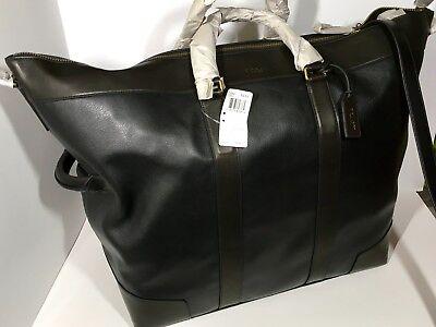Coach Crosby Tucklock Black Leather Zip Top Portfolio # 61230 Retail NWT $248