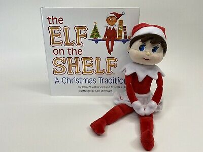 Elf on the Shelf Girl Doll Blue Eyes Snowflake Skirt Plush Doll with Book