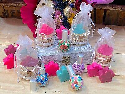 Detalles para Boda Comuniones perfumador y jabón en cesta de regalo 10...
