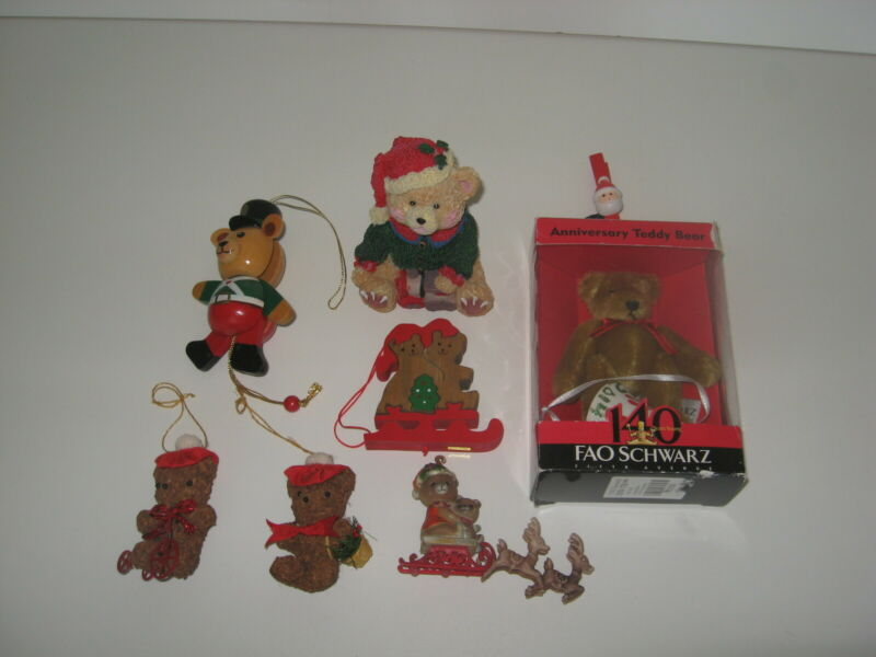 BEAR Collector Holiday Eclectic Ornament Group
