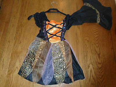 BNWT girl Witch halloween fancy dress up. Age 4-6 yrs. The Original Factory Shop - Halloween Dressing Up Origin