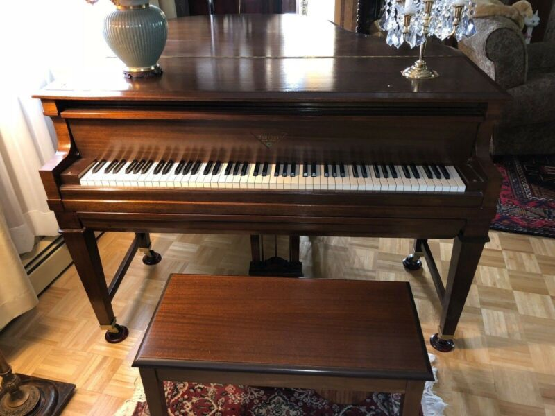 Fischer Ampico baby Grand Piano,  with 435  rolls,  videos now !