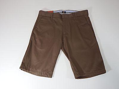 Mens Shorts Brown Tailored Gap Khaki Slim Fit Shor