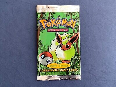 Pokemon 1st Edition Jungle Flareon Booster Pack Wrapper, No Cards