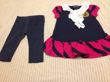 Ralph Lauren navy and pink top with matching navy leggings Russell Lea Canada Bay Area Preview