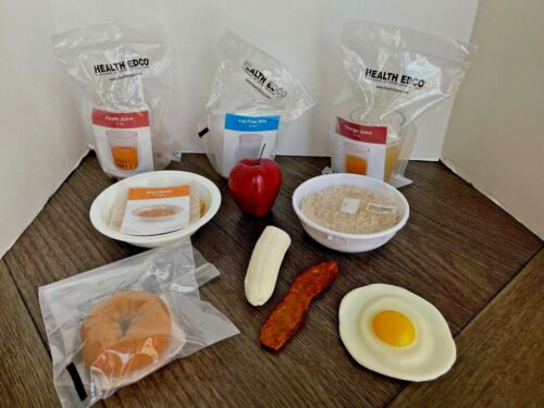 Health EDCO Better Breakfast Set Realistic Looking Faux Food Nutrition Education