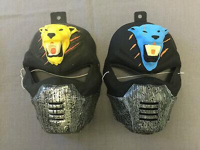 YELLOW & BLUE TIGER NINJA PVC HALLOWEEN MASK SET - Halloween Tiger Mask