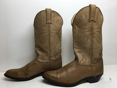 VTG WOMENS TEXAS COWBOY BROWN BOOTS SIZE 9