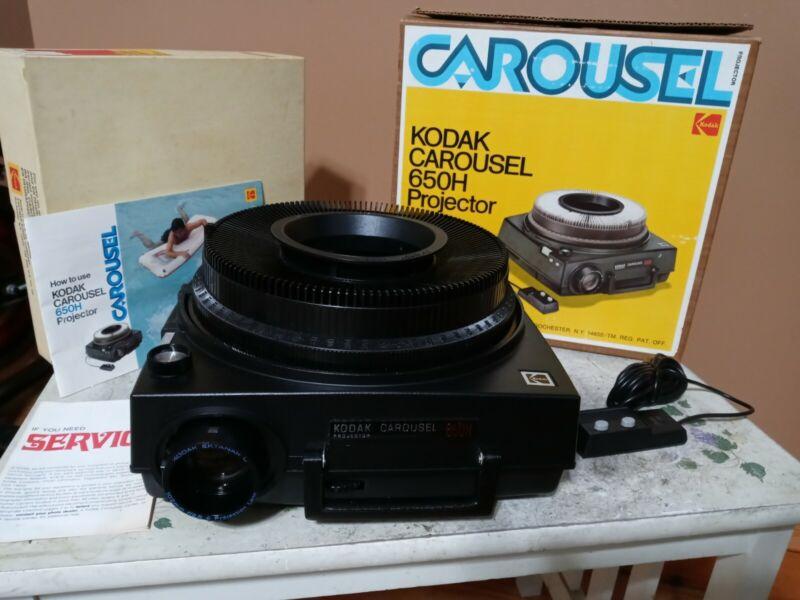 SERVICED Kodak 650H Carousel Slide Projector - NEW PARTS - MINT CONDITION - C1