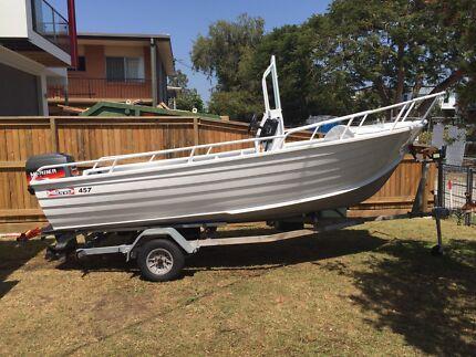 Aluminium Centre Console Stacer Boat 4.57m