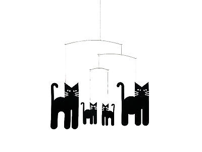 Flensted Halloween Black Cats Modern Hanging Baby Child Mobile Nursery - Modern Halloween Decor