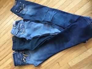 Ladies jeans Silvers, YMI and Brody - sizes 29 waist 30$