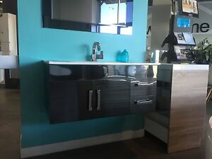 900 Wall Hung Stainless Steel Vanity Ceramic Top Mixers Included Springvale Greater Dandenong Preview