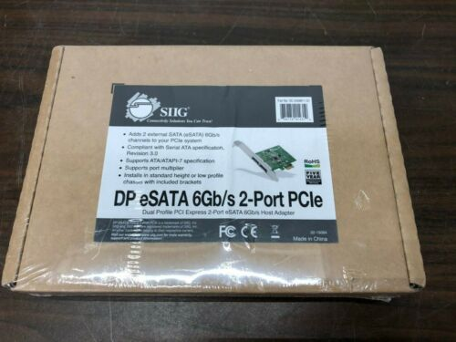 SIIG SC-SA0M11-S1 SIIG DP eSATA 6Gb/s 2-Port PCIe - 2 x 7-pin Serial ATA/600