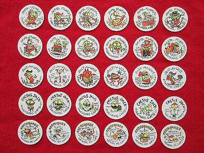 Rare Complete Set Of 30 Seismic Caps 1994 Limited Edition Milkcaps Pogs Tazos