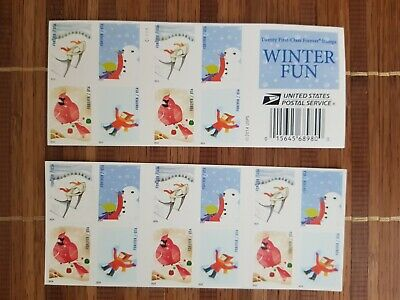 USPS Forever Postage Stamps Winter Fun Booklet of