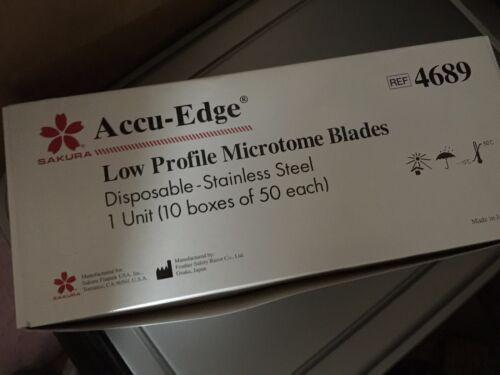 Sakura Finetek Accu-Edge # 4689 Low Profile Microtome Blades - Case of 500