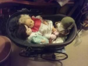 Dolls pram&dolls