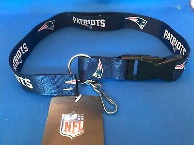 New England Patriots Two-Sided Breakaway Lanyard w/Detachable Key Chain NFL NWT