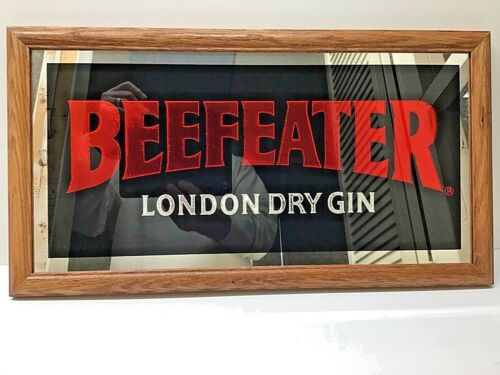 Vintage BEEFEATER London Dry Gin Mirror / Sign
