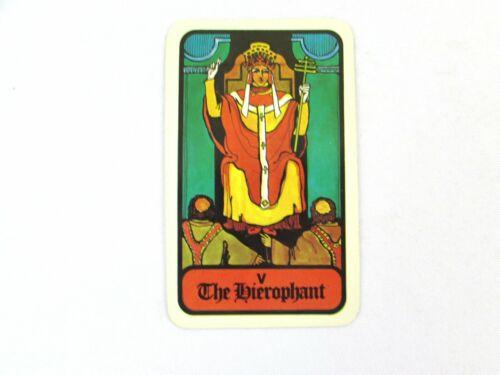Vintage 1972 Hoi Polloi Tarot *Single Replacement Card* V The Hierophant