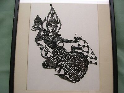 Framed Die-Cut Silouette Picture of India Goddess, Hindu?