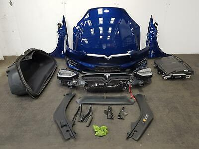 2018 TESLA MODEL X FRONT END KIT BONNET WINGS BUMPER HEADLIGHTS RADIATOR BLUE
