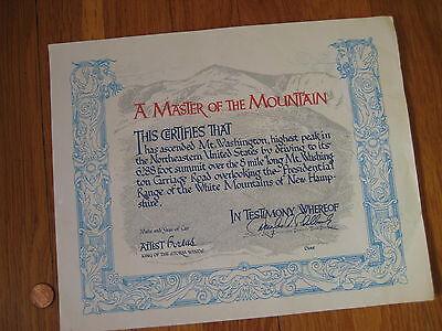 vintage Mt Washington KING OF THE MOUNTAIN pinkham notch NH Douglas Philbrook