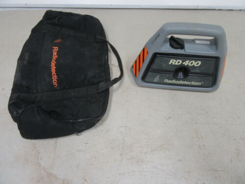 Radiodetection RD400 Transmitter & Carry Tool Bag Works Radio Detection
