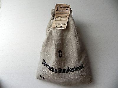 Deutsche Bundesbank original Geldsack C 1 Pfennig 2.000 Münzen, Seltenheit