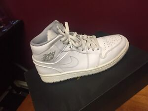 All white Jordan one